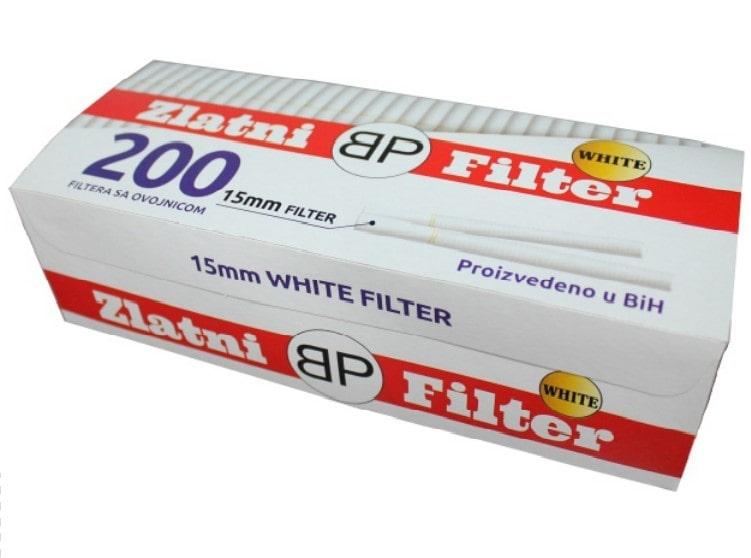 Zlatni filter filter tubes 200/1 15mm with white cork / bijeli cork