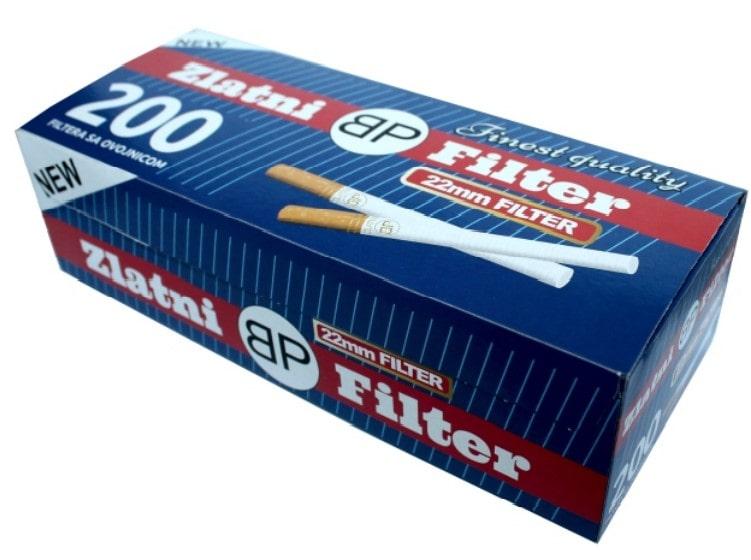 Zlatni Filter filter tubes 200/1 22mm