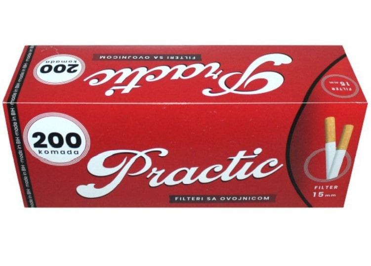 Practic filter tubes 200/1 15mm