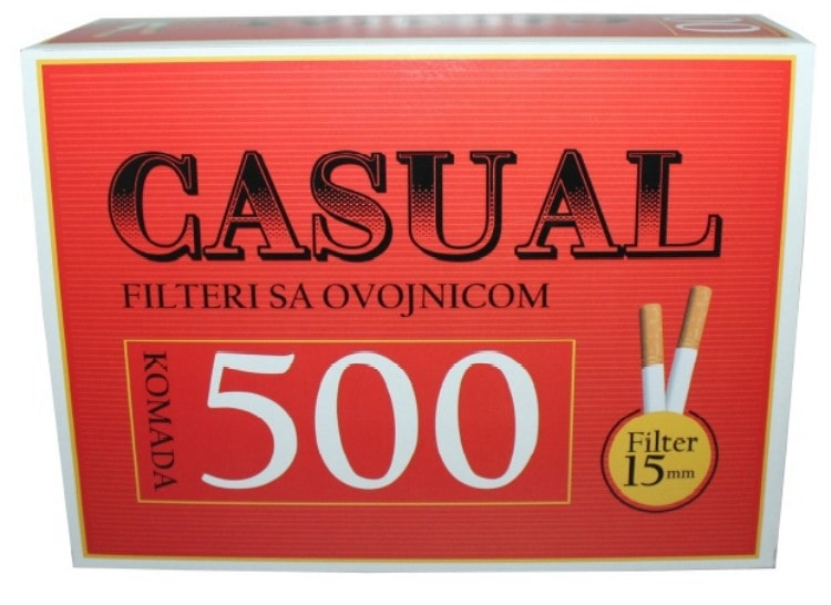 Casual filter tubes 500/1 15mm