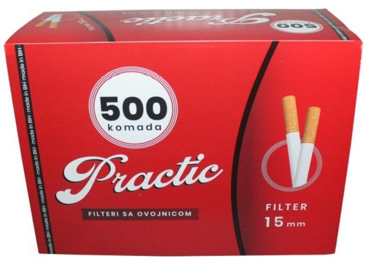 Practic filter tubes 500/1 15mm