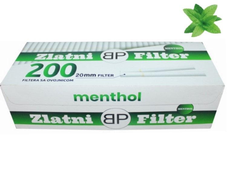 Zlatni Filter menthol filter tubes 200/1 20mm
