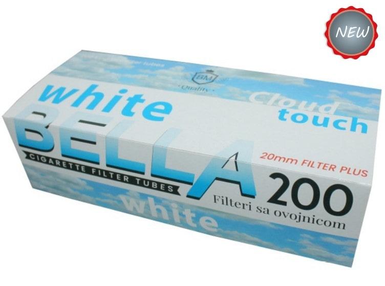 Bella filter tubes 200/1 20mm with white cork / bijeli cork