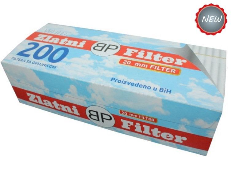 Zlatni filter filter tubes 200/1 20mm with white cork / bijeli cork