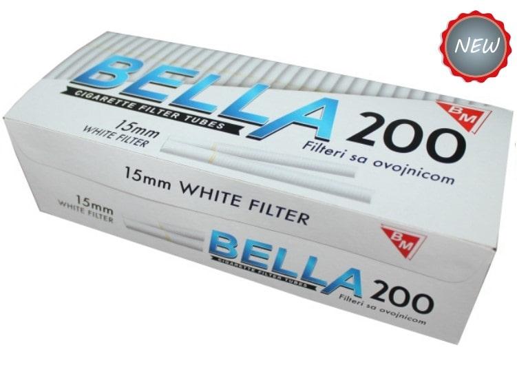 Bella filter tubes 200/1 15mm with white cork / bijeli cork